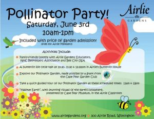 Pollinator Party @ Airlie Gardens   Wilmington   North Carolina   United States